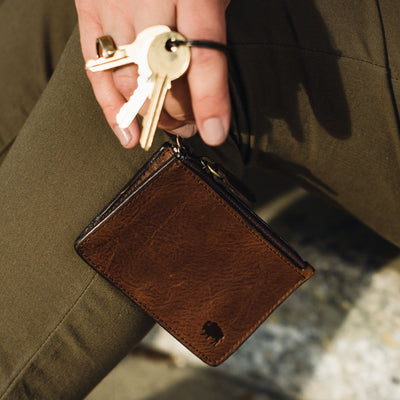 Madison Leather Zipper Pouch Wallet | Dark Hazelnut hover