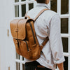 Denver Leather Backpack | Old Gold hover
