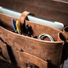 Denver Leather Briefcase | Sienna Brown