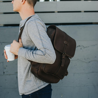 Denver Leather Backpack | Dark Briar