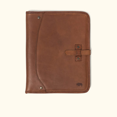 Denver Leather Travel Padfolio | Autumn Brown
