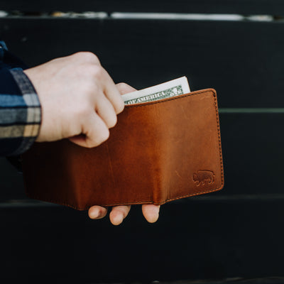 Denver Leather Trifold Wallet | Autumn Brown hover