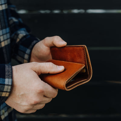 Denver Leather Trifold Wallet | Autumn Brown