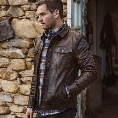 Lifestyle Men's Outdoors - Driggs Leather Jacket | Brown