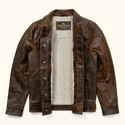 Interior Vintage Lining - Driggs Leather Jacket | Brown