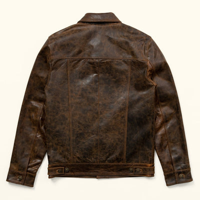 Driggs Leather Jacket  Brown