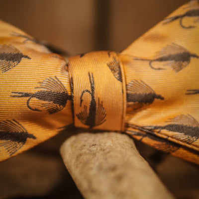 Trout Fly - Orange - Bow Tie
