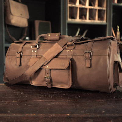 Roosevelt Buffalo Leather Travel Duffle Bag - Water Buffalo