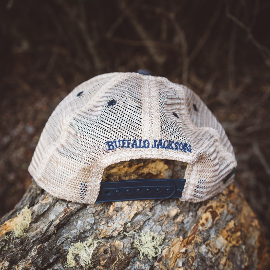Vintage Wyoming State Flag Hat | Navy