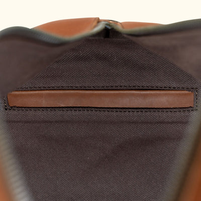 Leather Travel Duffle Bag | Autumn Brown