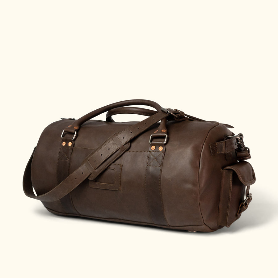 Denver Leather Travel Duffle Bag | Dark Briar