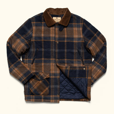 Rugged Winter Wool Jacket for Men - Portsmouth Plaid