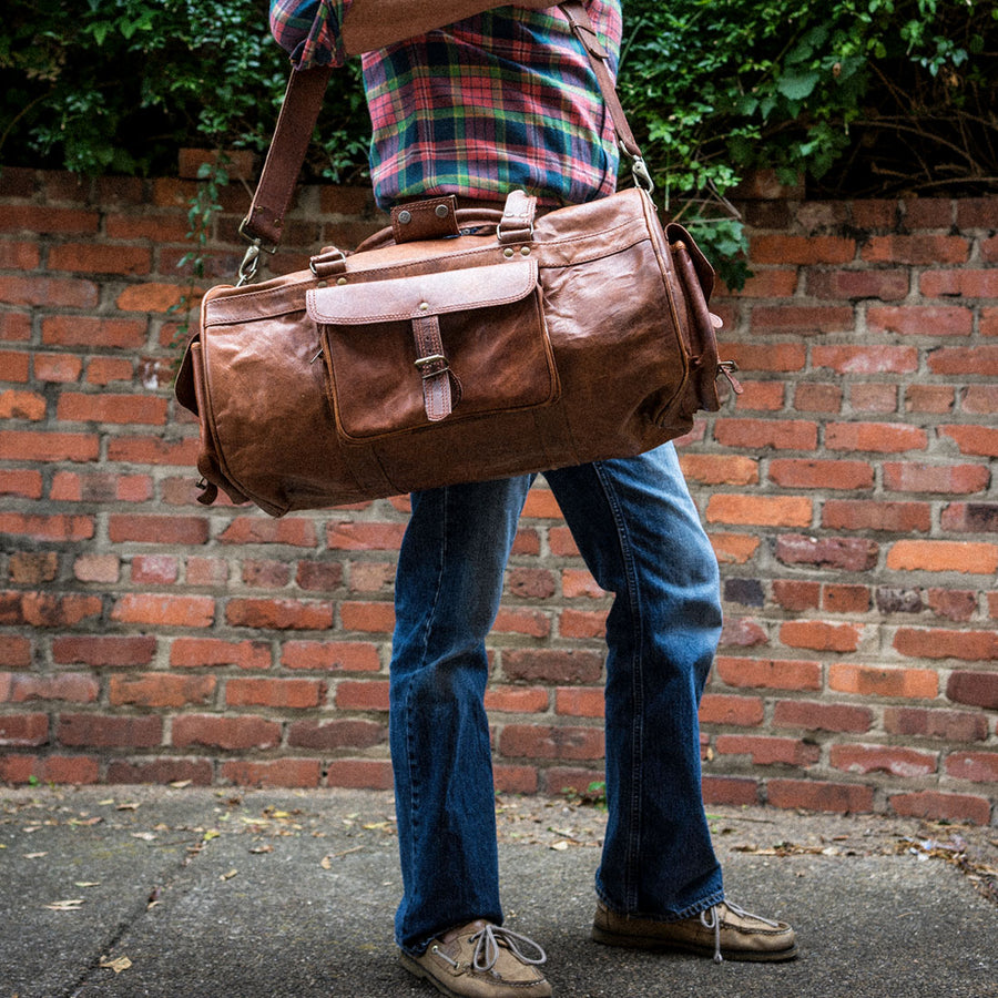 Everett Vintage Leather Duffle Bag