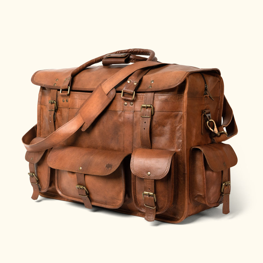 Everett Vintage Leather Travel Bag