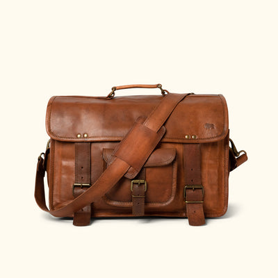 Everett Vintage Leather Briefcase Bag