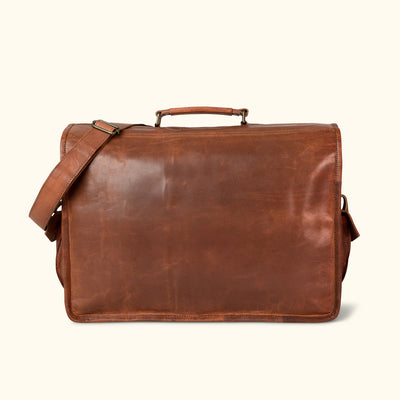 Everett Vintage Leather Briefcase Bag - Large