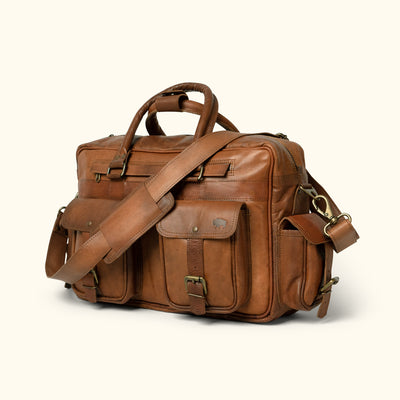 Everett Vintage Leather Pilot Briefcase Bag