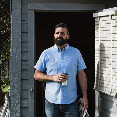 Galveston Short Sleeve Oxford Shirt | Light Blue hover