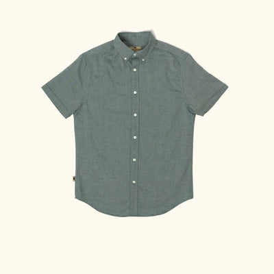 Galveston Short Sleeve Oxford Shirt | Green