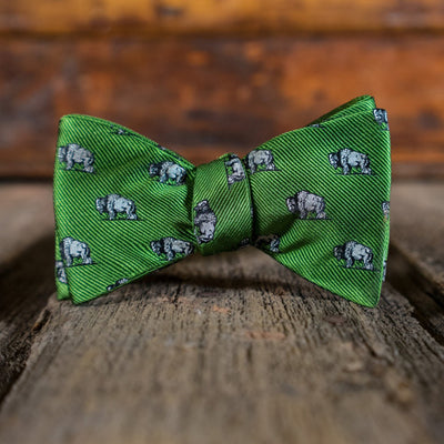 Bow Tie - Buffalo - Green Wildlife Series No. 1