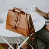 Chelsea Leather Crossbody Handbag | Honey Brown