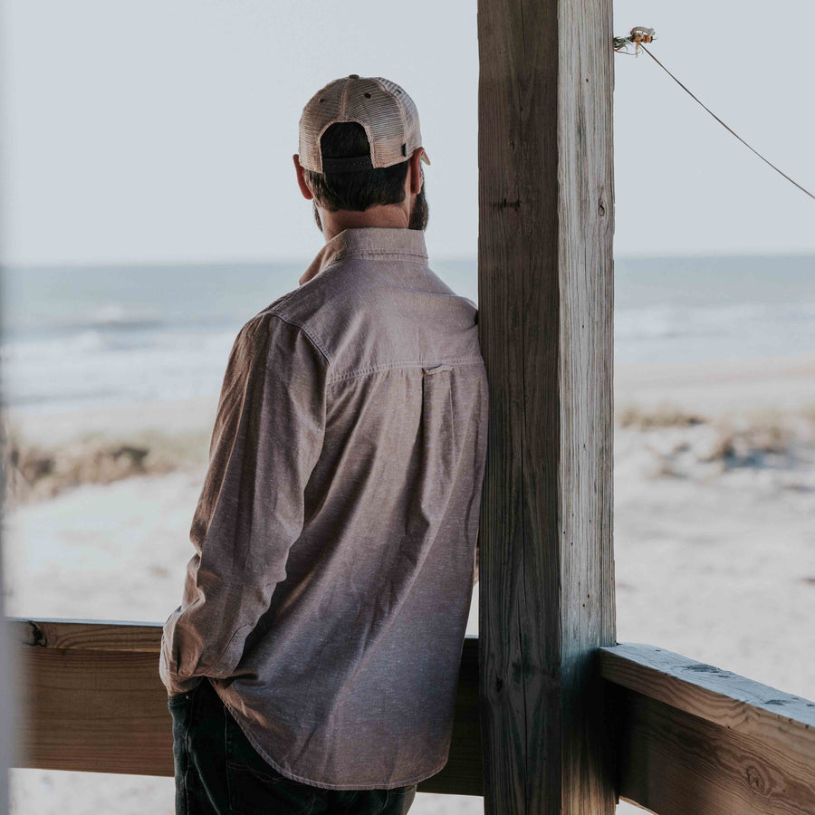 Harbor Chambray Shirt - Outer Banks Tan