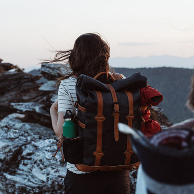 Linville Gorge Hiking Rolltop Backpack | Navy Charcoal