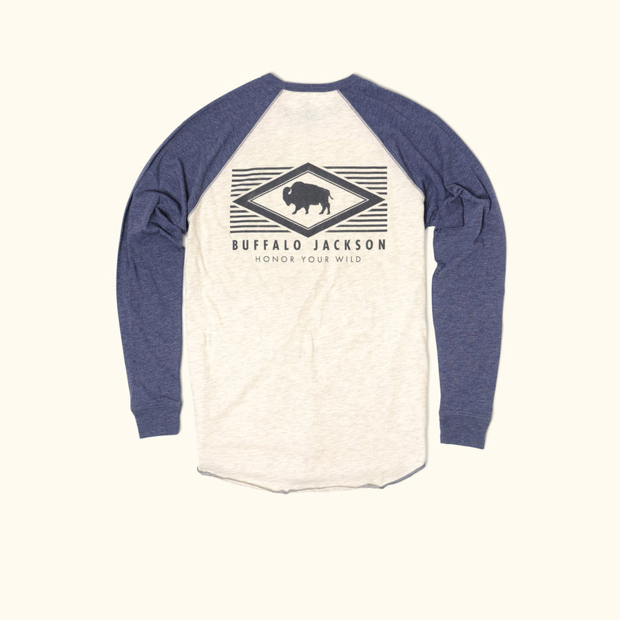 Honor Your Wild Long Sleeve Raglan - Blue