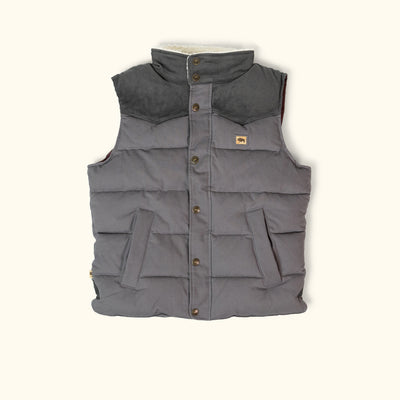Jackson Vest w/ Sherpa Collar - Gray and Charcoal