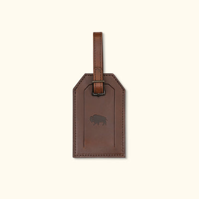 Vintage Leather Luggage Tag