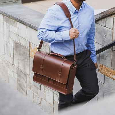 Men's Modern Messenger Bag | Elderwood hover