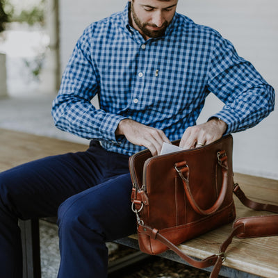Men's Best Leather Attache | Elderwood hover