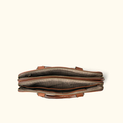 Men's Leather Attache | Elderwood interior