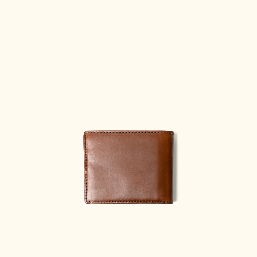 Ruged Leather Billfold Wallet | Elderwood front