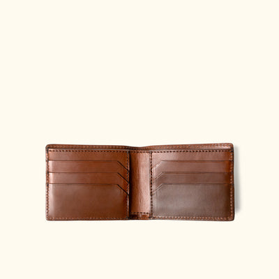 Men's Vintage Leather Billfold Wallet | Elderwood interior