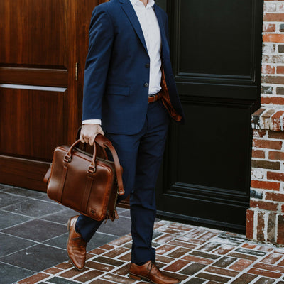 Modern Leather Briefcase | Elderwood hover