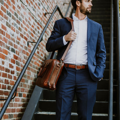 Classy Leather Briefcase | Elderwood