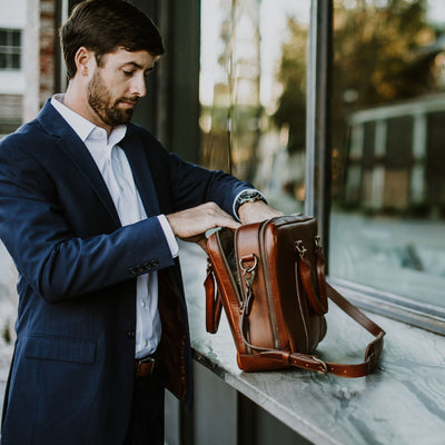 Jefferson Leather Briefcase Bag