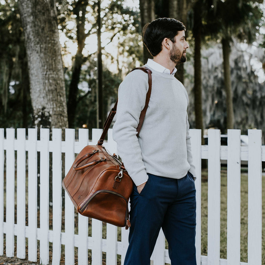 Jefferson Leather Duffle | Elderwood