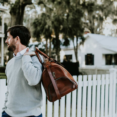 Rugged Leather Duffle | Elderwood