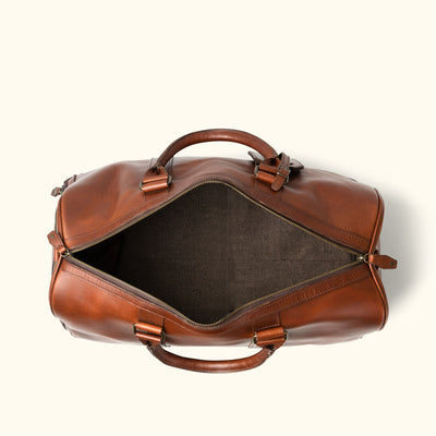 Modern Leather Duffle | Elderwood interior