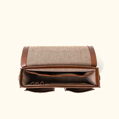 Modern Leather Messenger Bag | Elderwood Interior