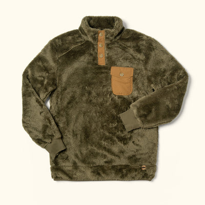 Kodiak Fleece pullover birchwood green