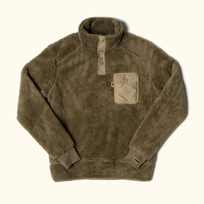 Kodiak Fleece Pullover | Birchwood Green