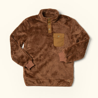 Kodiak fleece pullover sweater grizzly brown