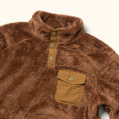 Mens Soft Kodiak fleece pullover