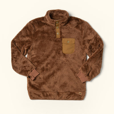Mens Best Cold Weather fleece pullover kodiak