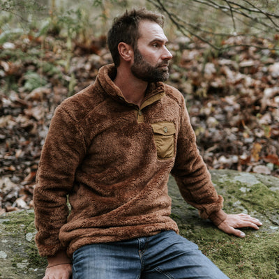 Kodiak Fleece Pullover Grizzly brown