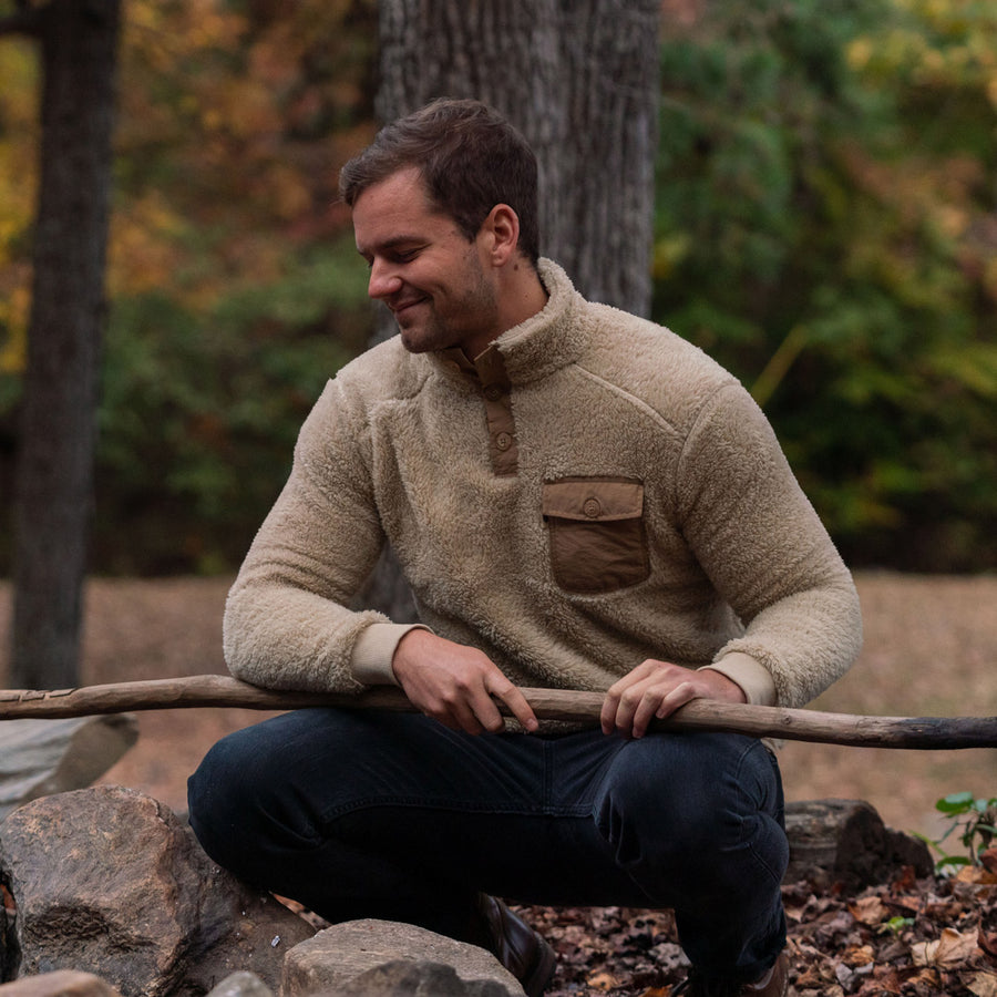 Kodiak Fleece Pullover | Grizzly Tan