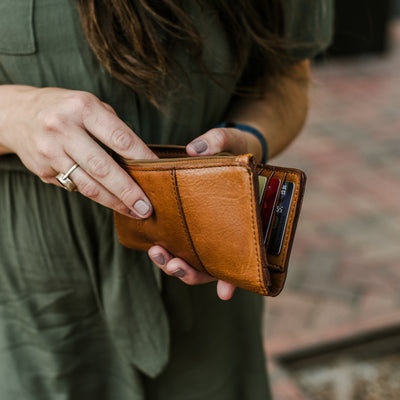 Chelsea Leather Wallet | Honey Brown